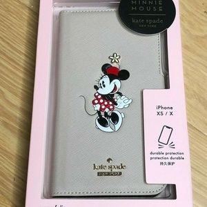 Kate Spade Minnie Mouse iPhone Xs / X Folio Case
